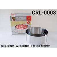 CRL-0003 Cake ring cetakan entremet cake kue tiramisu stainless steel