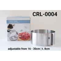 CRL-0004 Cake ring cetakan entremet cake kue tiramisu stainless steel