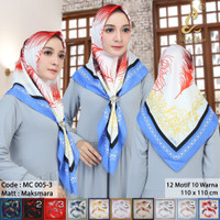 Motif Segi Empat Abstrak Hijab Jilbab Kerudung Square MC3 oke