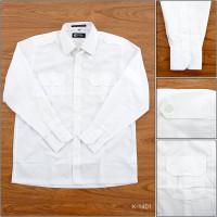 [K1401] Kemeja Formal Cowok Lengan Panjang Putih Cardinal S-XL