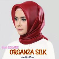 Jilbab Organza silk Segiempat Grosir - murah 1 kg muat 10 pcs oke