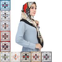 Kerudung Motif Abstrak Burberi Jilbab Segi Empat Hijab Square murah