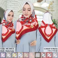 Motif Segi Empat Abstrak Hijab Jilbab Kerudung Square MC5 oke