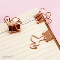 10pcs Cute Flamingo Metal Binder Clips Stationary Paper Clips for