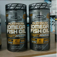 Muscletech Platinum Omega Fish Oil 100 Softgels Omega