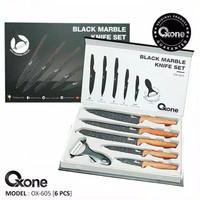 Pisau Set Oxone Black Marble Knife Set OX-605