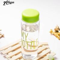 Botol Jus Buah Transparan 500 ml Portabel Olahraga Perjalanan Kantor