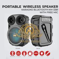 "Speaker + Mic Portable Wireless Bluetooth Karaoke Meeting Besar 6.5"""
