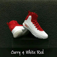 SEPATU BASKET CURRY 4 RED WHITE tools
