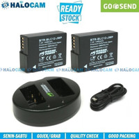 Wasabi Power PAKET 2 Battery & Charger for Lumix DMW-BLC12 G85 GX8 G7