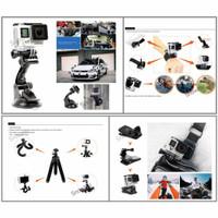 Aksesoris Action Cam Komplit Full Set GoPro Series Xiaomi Yi Yi Discov