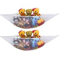 2 PK - Simplehouseware Stuffed Animal Jumbo Toy Storage Hammock