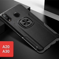 Case Samsung Galaxy A20/A30/A30s Magnetic Ring 360 Rotating - Hitam