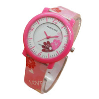 Fortuner Jam Tangan Anak Putri JA825 Hot Pink - Rubber Strap - Analog