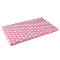 KidKraft Austin Toy Box Cushion, White/Pink Polka Dots