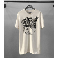 T-shirt Minion Robot / Baju Kaos Distro Pria Pendek Slimfit