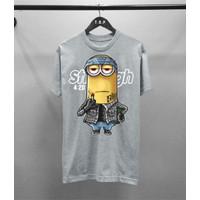 T-shirt Minion Still Laugh / Baju Kaos Distro Pria Pendek Slimfit