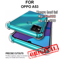 Soft Case Oppo A53 casing silikon back cover tpu transparan ANTI CRACK