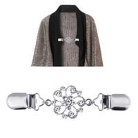 ain Pearl Clip Women Sweater Blouse Shawl Blouse Collar Clips