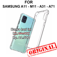 Soft Case Samsung A11 - M11 - A31 - A71 casing hp cover tpu ANTI CRACK