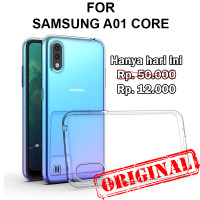 Soft Case Samsung A01 Core casing back cover tpu silikon ULTRA CLEAR