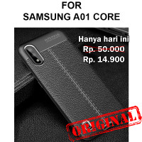 Case Samsung A01 Core casing back cover tpu silikon Leather Auto Focus