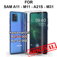 Soft Case Samsung A11 - M11 - A21s - A31 casing cover tpu ULTRA CLEAR