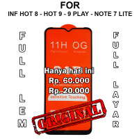 Infinix Hot 8 - Hot 9 Play - Note 7 Lite anti gores TEMPERED GLASS 5D