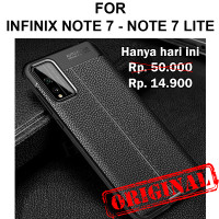Case Infinix Note 7 - Note 7 Lite casing cover tpu Leather Auto Focus