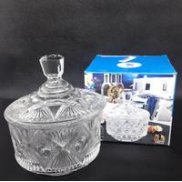 BO032 Candy Jar Bowl Toples Kaca Kue Tempat Permen Crystal Glass Gift