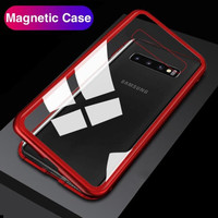 * CASE MAGNETIC 2IN1+GLASS SAMSUNG A20 0.8MM ANTI BARET
