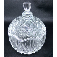BO033 Toples Kaca Permen Kue Crystal Glass Candy Jar Transparant