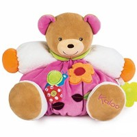 Kaloo Colors Bear Flower with Teething Ring Toy, Large