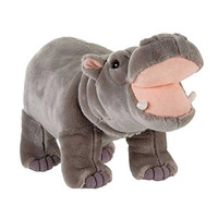 "FIESTA Toys Standing Hippo Hippopotamus Plush Stuffed Animal, 14"""