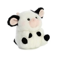"Aurora - Rolly Pet - 5"" Daisy Cow, Black, White, Model:16834"