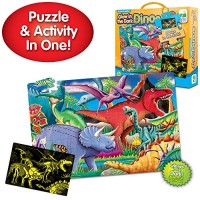 The Learning Journey Puzzle Doubles Glow in the Dark - Dinos - 100 Pie