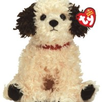 TY Beanie Babies Sneakers - Cream Dog with Brown Ears