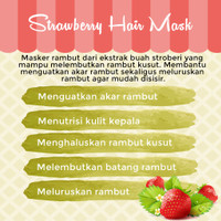 Perawatan STORE Masker Strawberry MASK HAIR Rambut Hair Rambut Spa Str