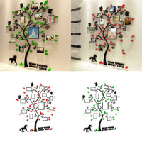 Bayar Di Tempat 3D Acrylic Photo Frame Tree Wall Sticker Living 2615