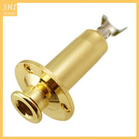 In Brass 1/4 Strap End Pin Output Input Jack For Electric Guitar