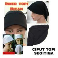 Ciput Topi Segitiga / Dalaman Hijab / Kerudung / Daltop Tali Belakang