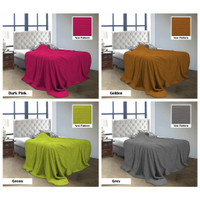 Selimut Luxury Quincy Vallery Super Soft Warna Polos Embossed