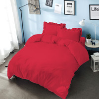 Bed Cover King 180 Chilli Red Kintakun D'luxe Microfiber (6in1) T 30