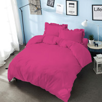 Bed Cover King 180 Pink Magenta Kintakun D'luxe Microfiber (6in1) T 30