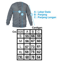 1 - Fit Cardigan Pria PCS Muscle Polos V-neck
