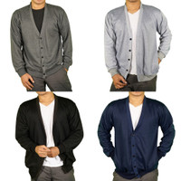 Cardigan Pria Muscle Polos V-neck Fit