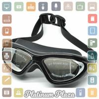 Ruihe Kacamata Renang Big Frame Anti Fog UV Protection `3UHU5Q-- Black