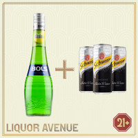 Bols Melon Liqueur 700ml + 3 Can Soda Water