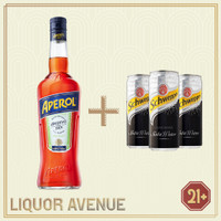 Aperol Aperitivo Original 700ml + 3 Can Soda Water