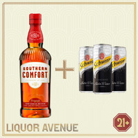 Southern Comfort Liqueur 700ml + 3 Can Soda Water